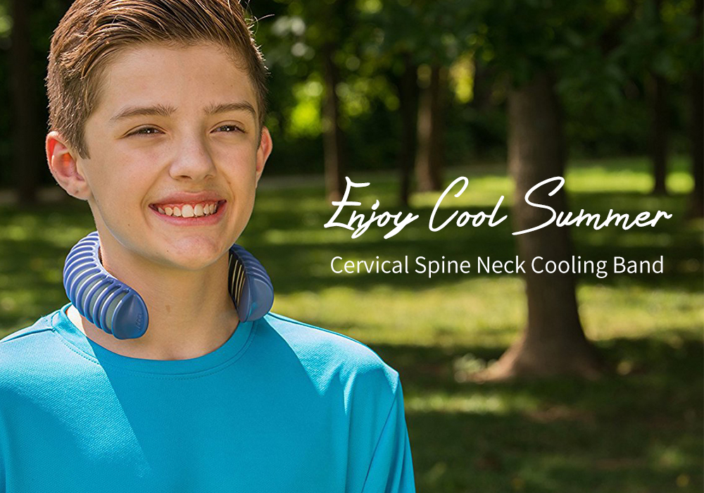 Outdoor Sports Cervical Spine Neck Jogging Cycling Equipment Cooling Zone- Lapis Blue