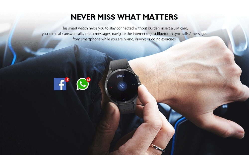 Bilikay KW88 Pro 3G Smart Watch with Independent Phone / Camera