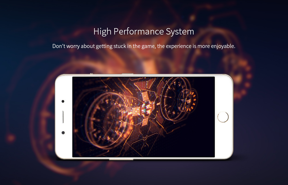 YU FLY F9 4G Phablet 6 inch Android 7.1.1 Snapdragon 653 Octa Core 4GB RAM 64GB ROM 16.0MP Rear Camera 4180mAh Battery- Gold