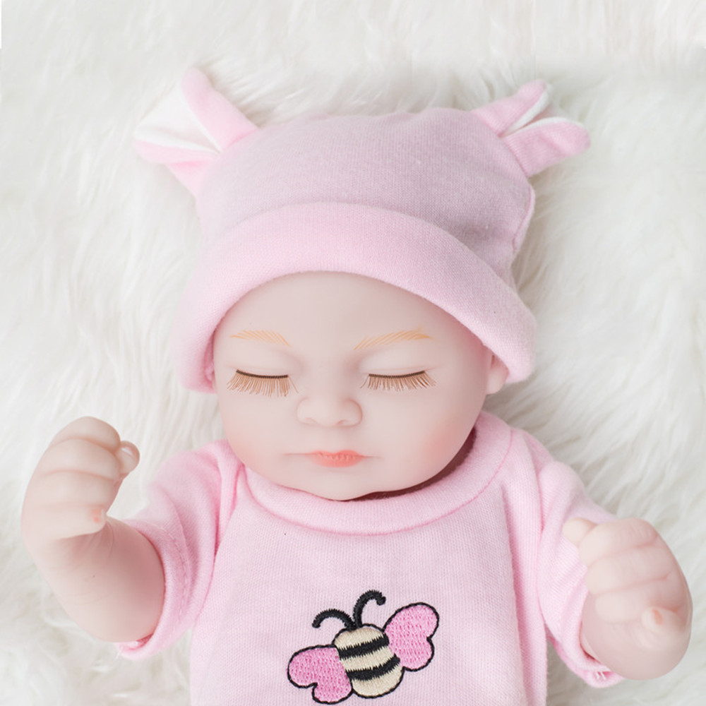 New Styles Mini Pink Suit Reborn Baby Dolls Cute Baby Toys- Light Pink