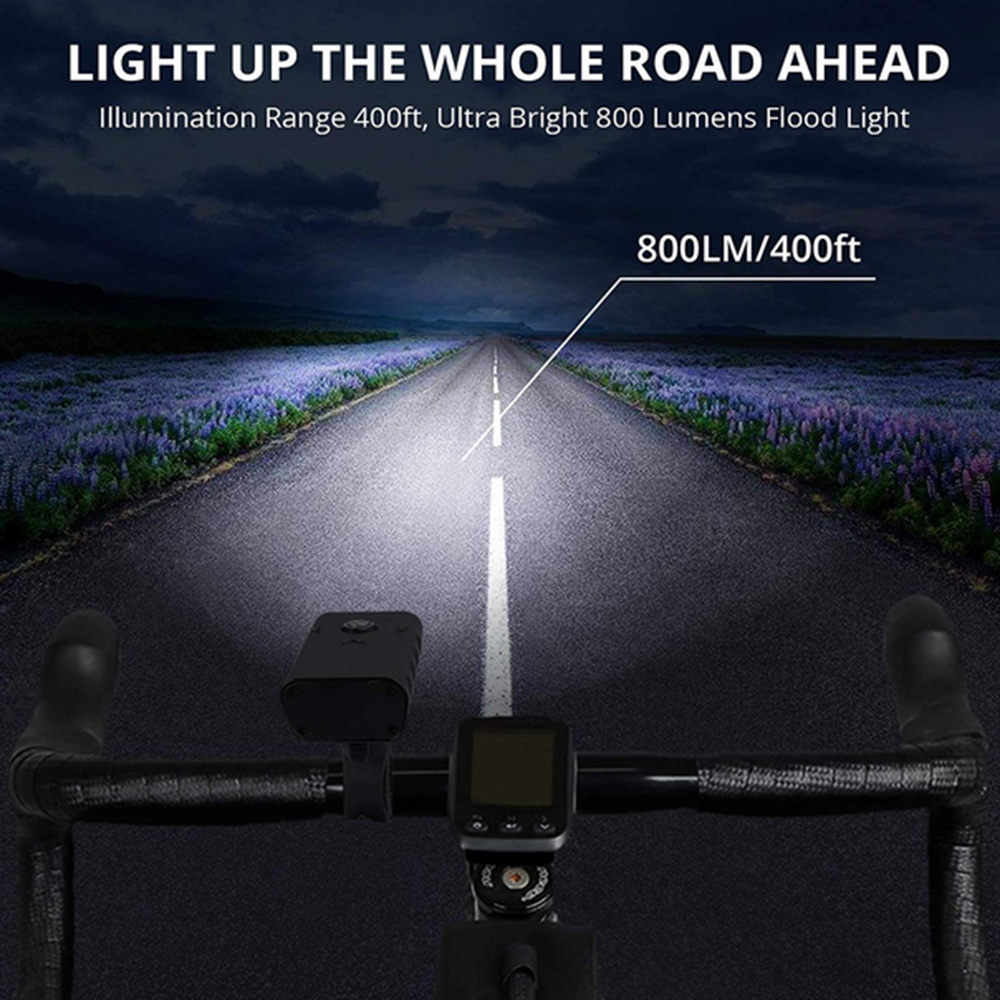 ZHISHUNJIA X3-02 Ultra-bright Bicycle Headlights and Taillight Built-in Battery- Black