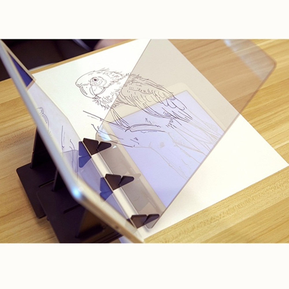 Platform Optical Drawing Board Projection Cartoon Artifact Line Optical Imaging- Black 1pc