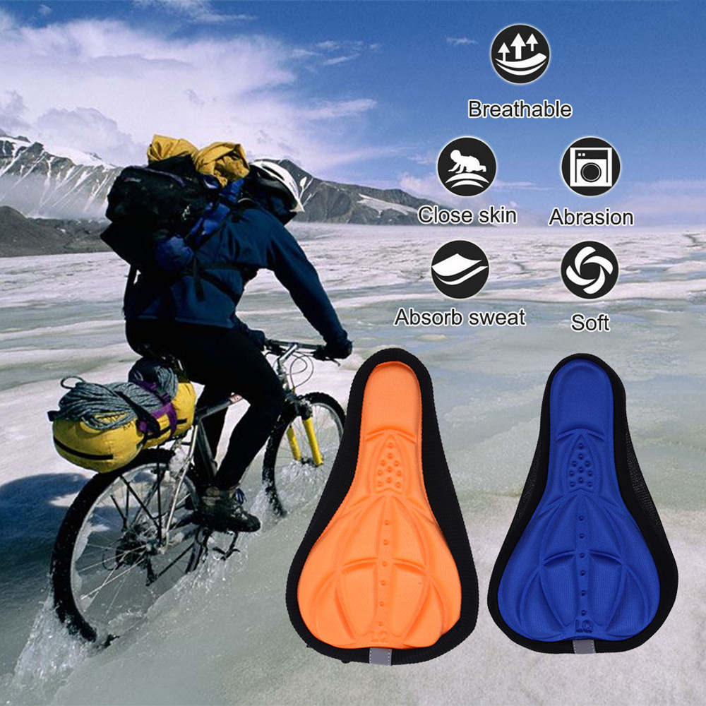 Bicycle 3D Silicone Sponge Cushion Cover - Black