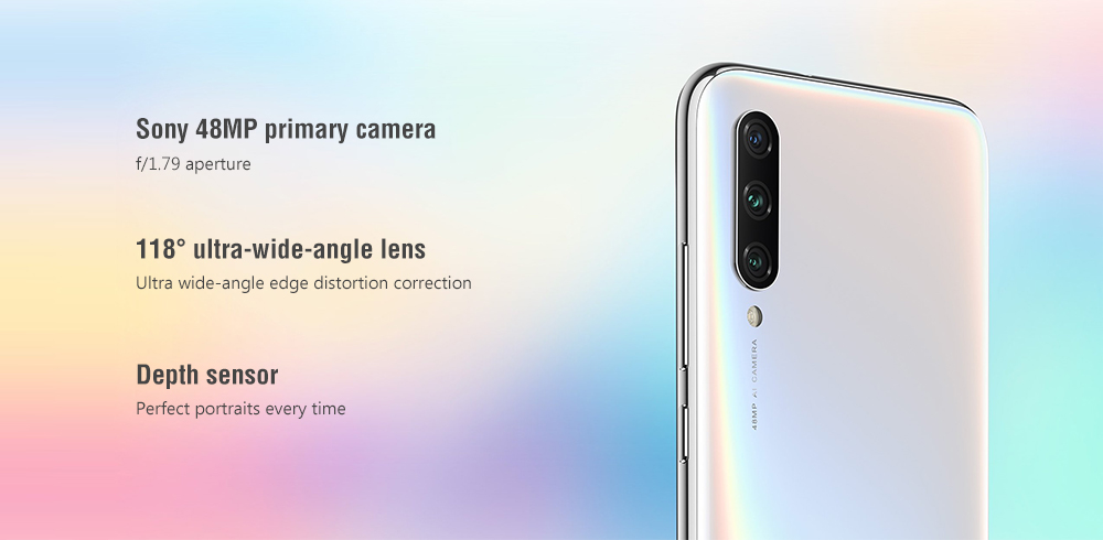 Xiaomi Mi A3 4G Phablet 6.088 inch Android One Snapdragon 665 Octa Core 4GB RAM 128GB ROM 48.0MP + 8.0MP + 2.0MP Rear Camera 4030mAh Battery- Blue
