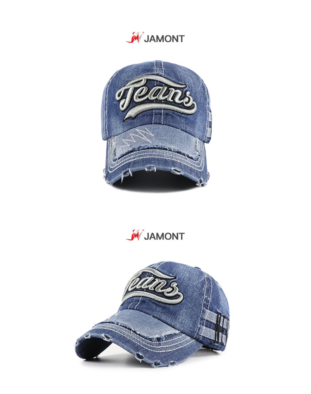 Sweden Paw Women Washed Denim Cotton Baseball Cap Sport Outdoor Adjustable Hats