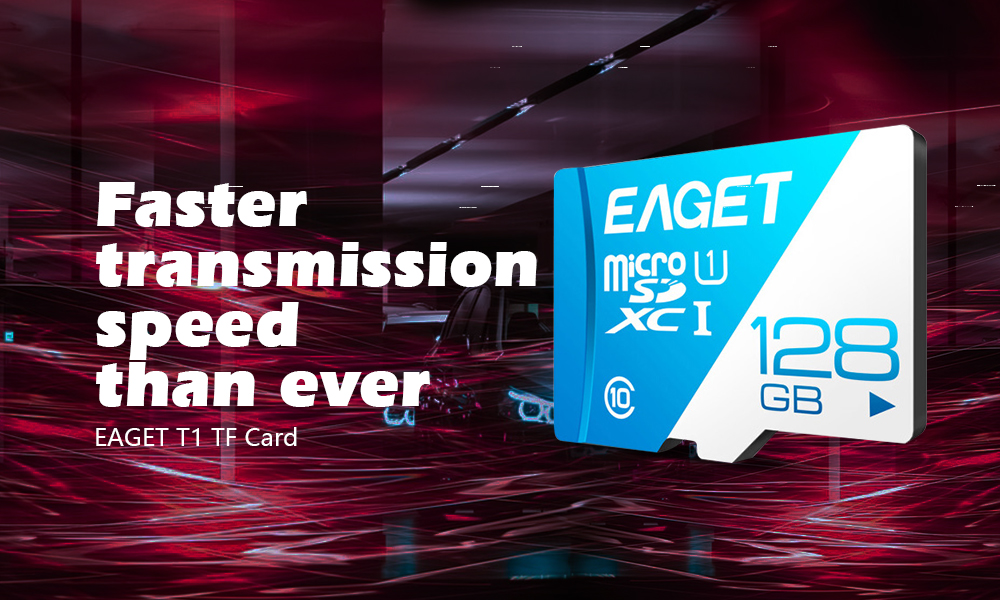 EAGET T1 Class 10 High Speed Micro SDHC UHS-I Flash TF Memory Card - Day Sky Blue 64G