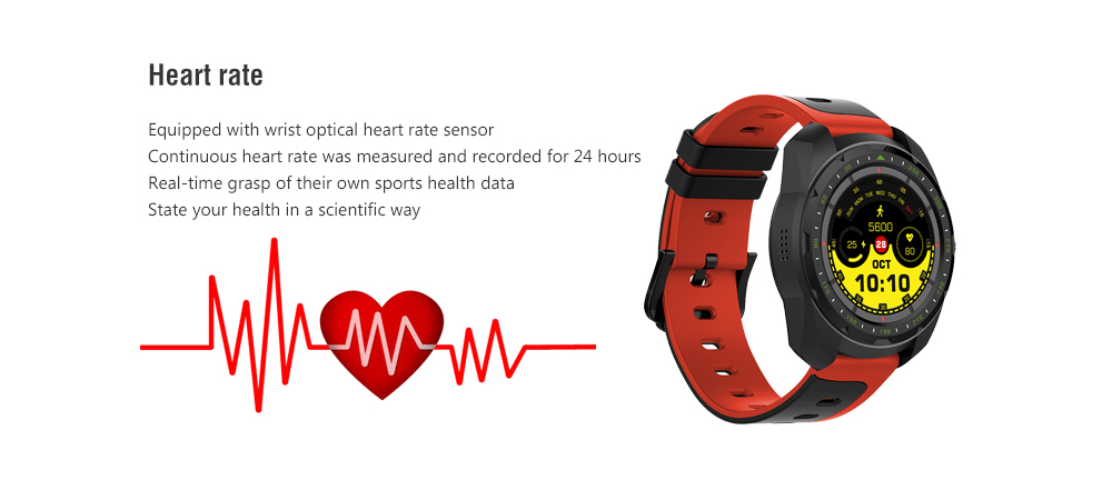 Bilikay KW01 Heart Rate Monitoring / Analysis of Sleep / Remote Picture / Finding Phone Bluetooth Call Sports Smart Watch- Black
