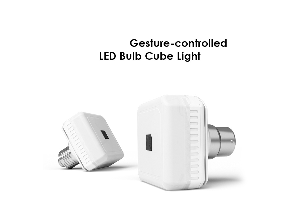 gocomma E27 Gesture Sensing Magic Cube LED Light Bulb - White