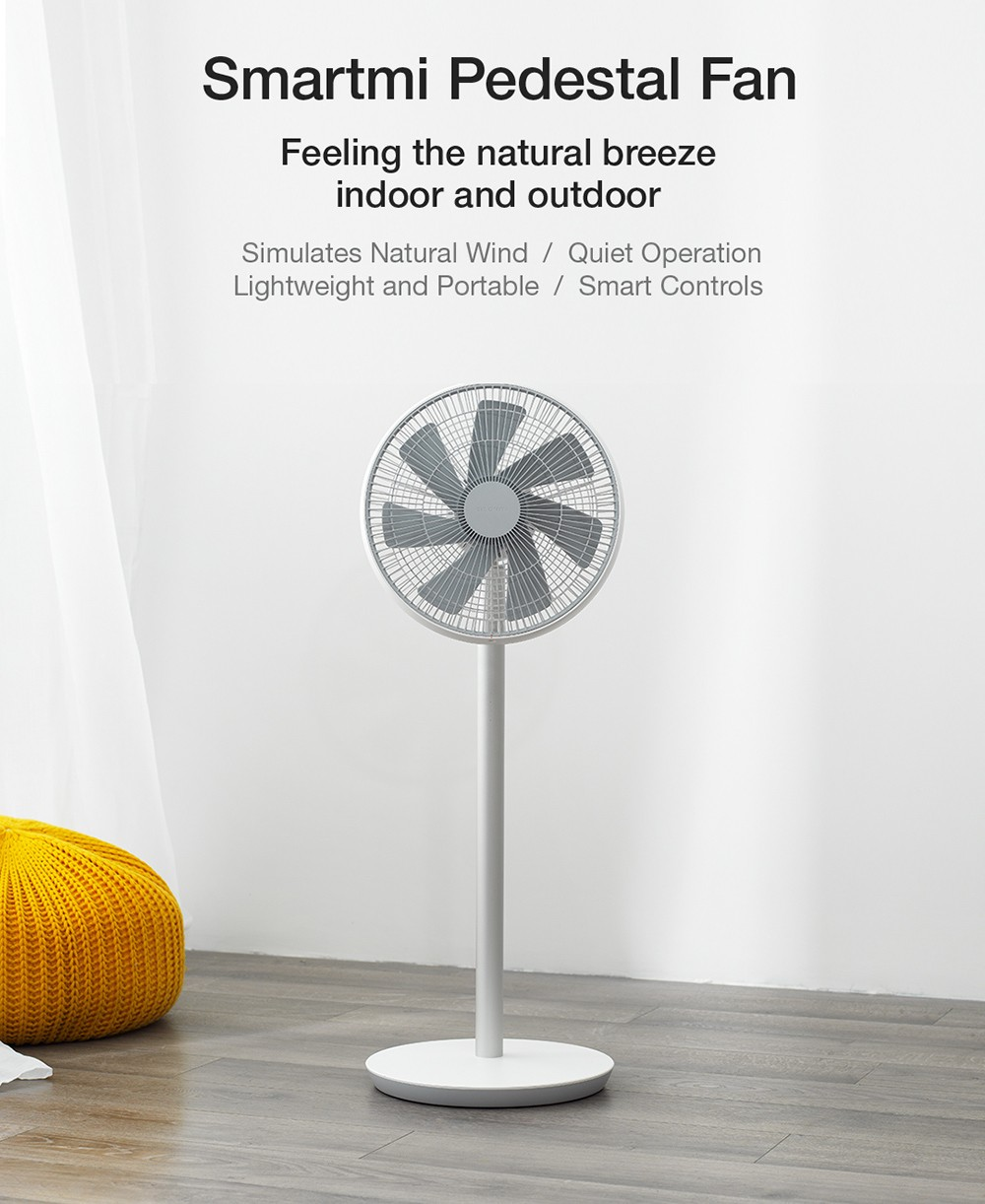 Smartmi-2S DC Frequency Conversion Natural Wind Floor Fan ( Xiaomi Ecosystem Product )- White