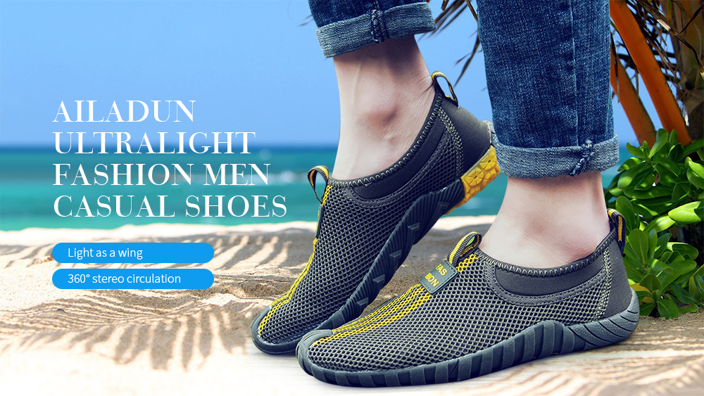 Genuine Leather Summer Breathable Soft Walking Casual Quality Light Net Footwear 2019,Blue,6.5