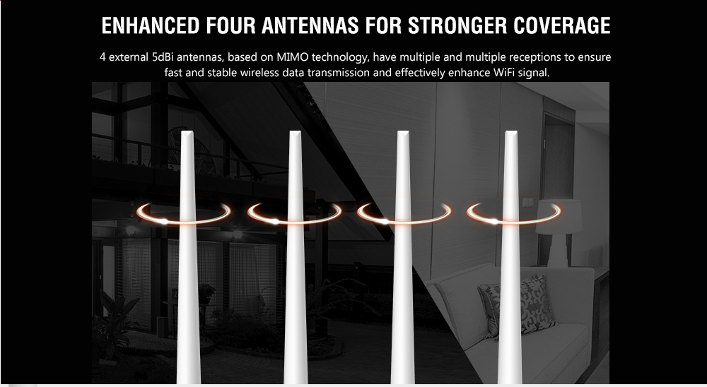 Tenda F6 300M Wireless Router WiFi Through-wall Home Smart Routing- White