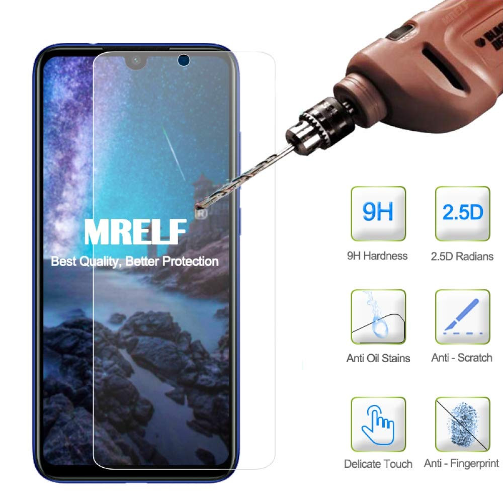 Stylish Tempered Glass Film for Xiaomi Redmi Note 7 Pro / Note 7- Transparent