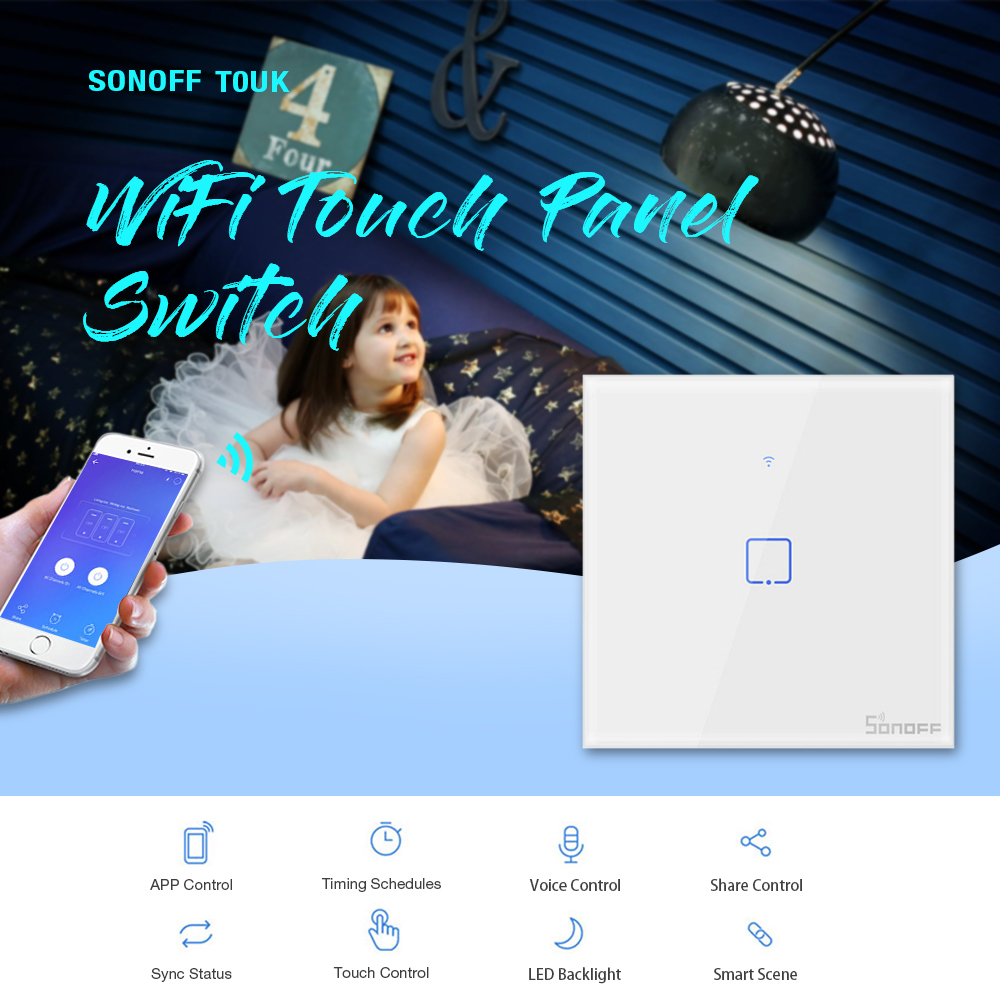 SONOFF T0UK UK Plug WiFi Touch Panel Switch
