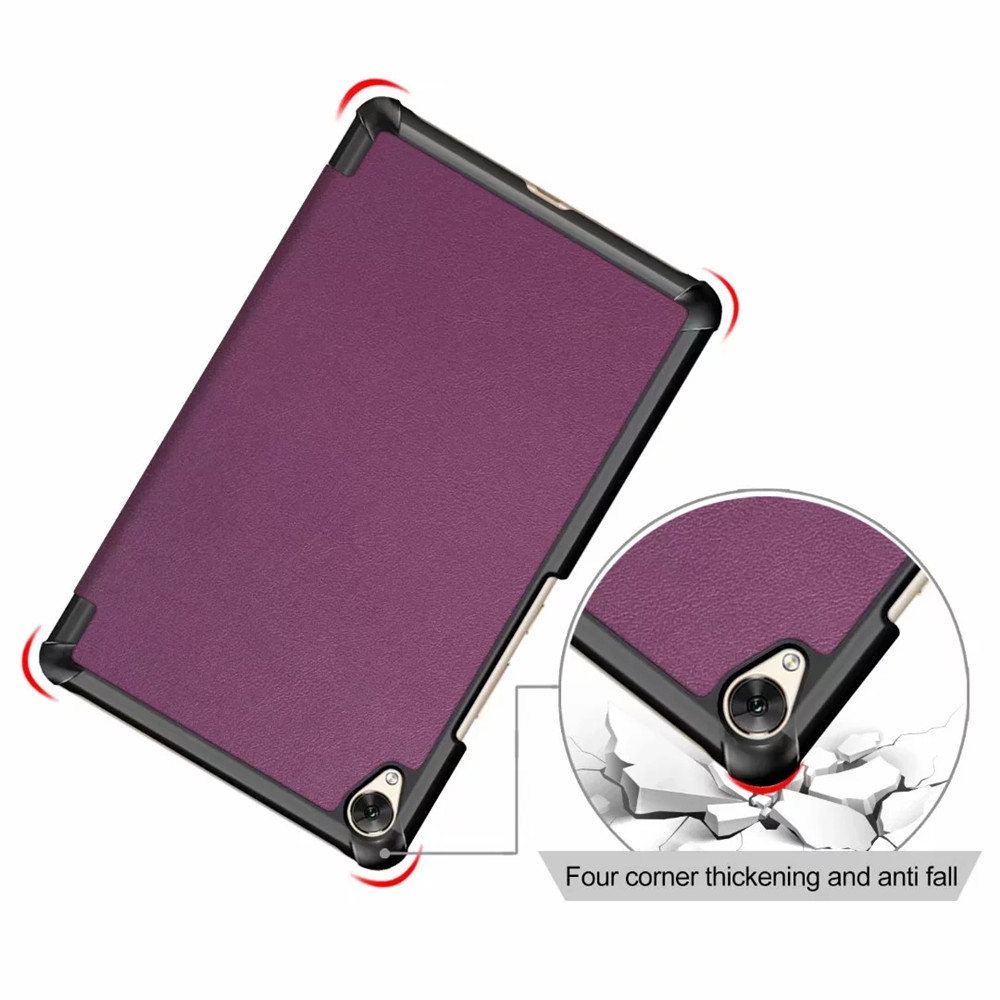 Foldable Tablet Cover for Huawei Mediapad M6 8.4 2019- Dull Purple