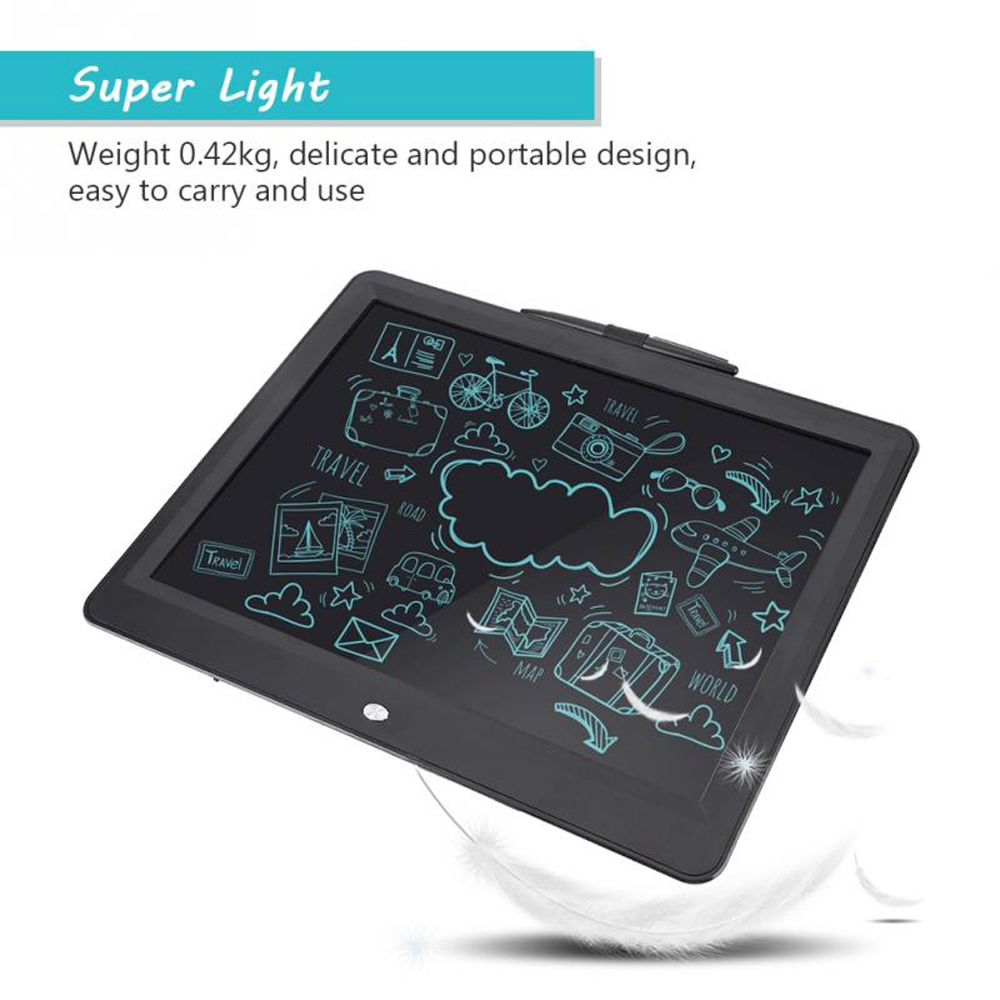 Durable Portable Nice 15 Inch Portable Business Ultra-Thin Handwriting Board- Black