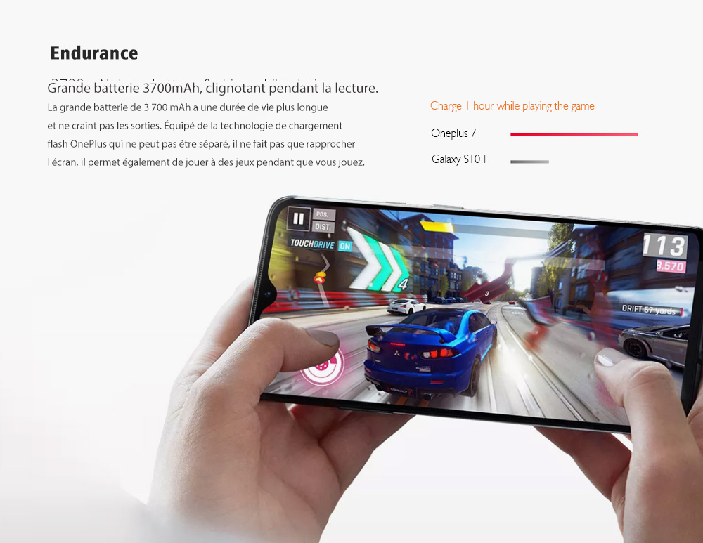 Smartphone 4G OnePlus 7 Version Internationale - Rouge