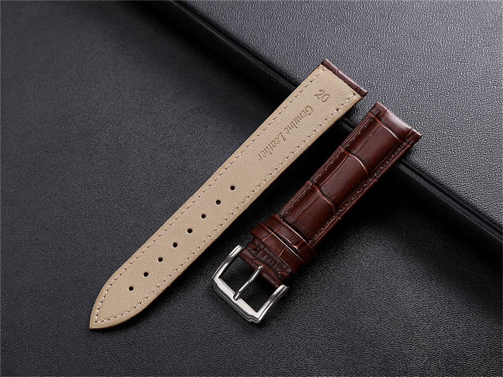 Leather Watch Band Strap for Samsung Galaxy Watch 46MM/S3 Frontier/S3 Classic- Deep Coffee
