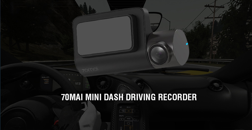 70mai Night Vision / Motion Detection Mini Dash Driving Recorder from Xiaomi youpin- Black