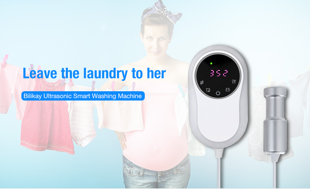 Bilikay Ultrasonic Smart Washing Machine with EU Adapter only $49.99