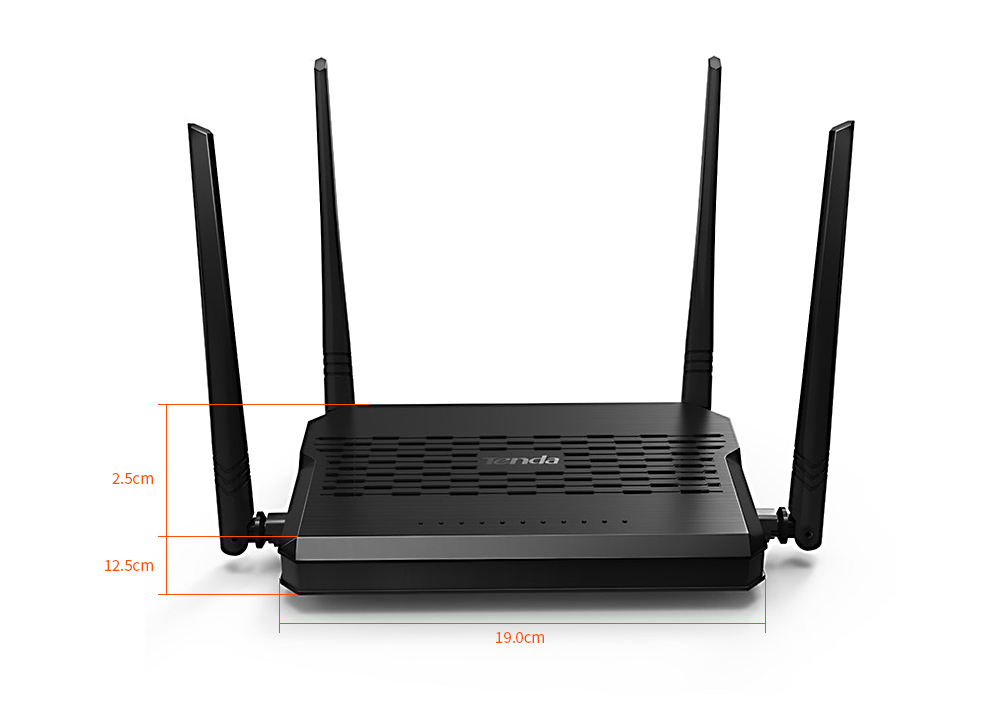 Tenda D305 ADSL2+ Modem Wireless WiFi Router EU Spina- Nero