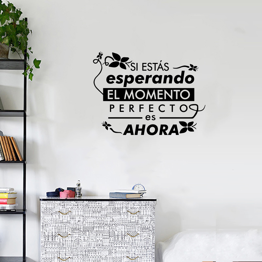 EL Butterfly English Proverb Home Decoration Wall Sticker Removable Sticker- Black 45X30 CM