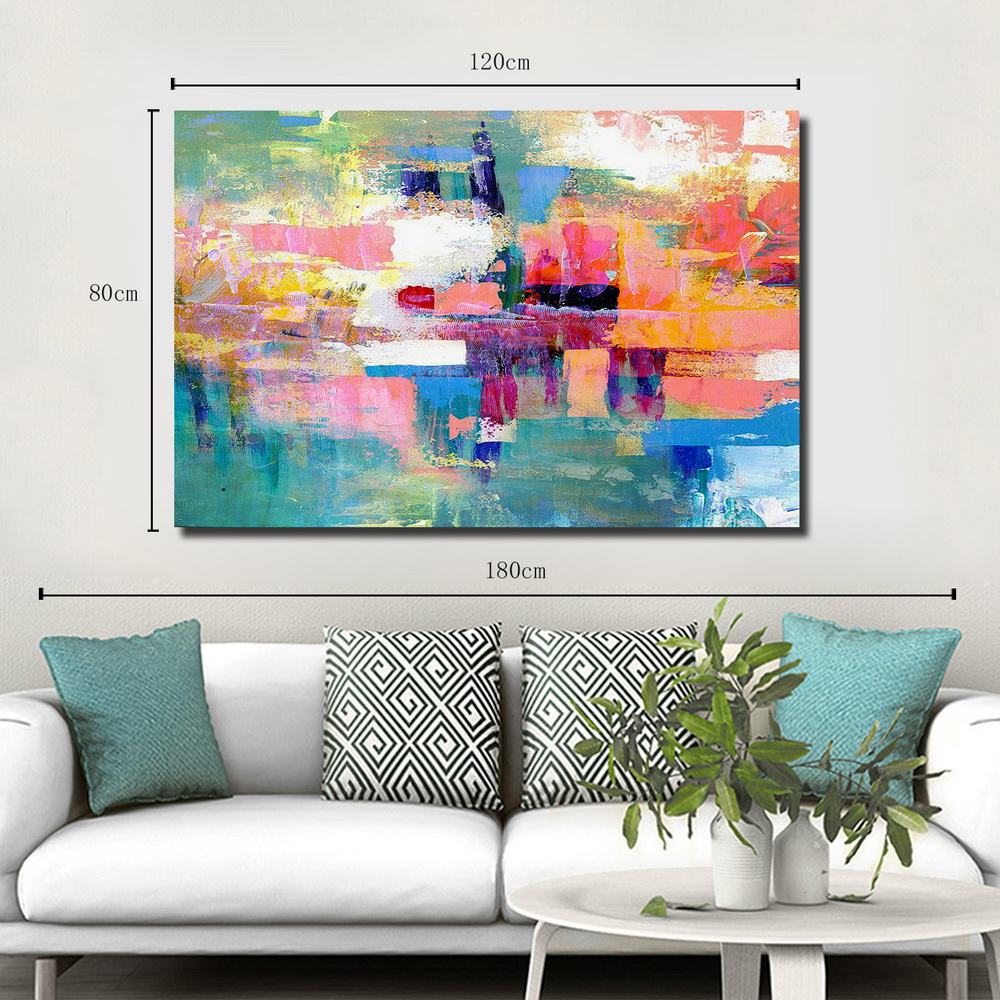 QINGYAZI HQ012 Hand-Painted Abstract Oil Painting Home Wall Art Painting- Valentine Red 60cm x 90 cm ( 24 x 36 Inch )