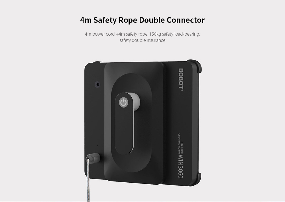 Bobot WIN3060 Home Safe High-altitude Window Cleaning Machine from Xiaomi youpin- Black