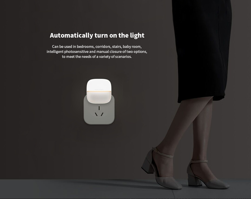 Yeelight YLYD09YL Sensor Recognition / Ultra-low Power Consumption Square Night Light - White 1Pc