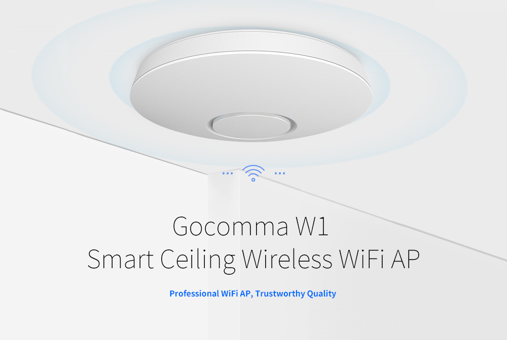 Gocomma W1 Smart Ceiling Wireless WIFI AP- White