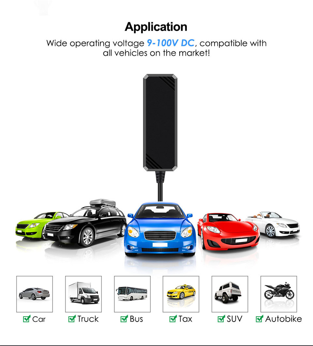 Mini Car GPS Tracker Waterproof IP65 Google Maps Real-Time Track- Black