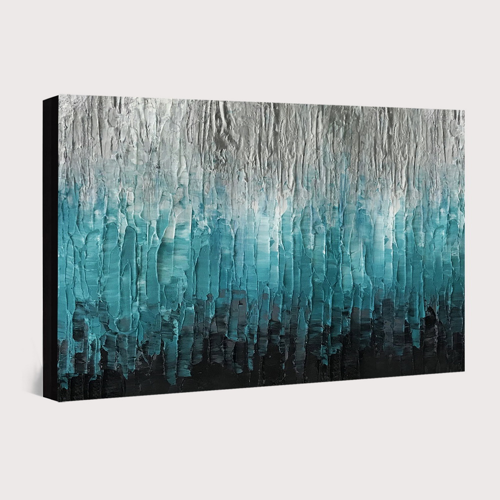QINGYAZI HQ014 Hand-Painted Abstract Oil Painting Home Wall Art Painting- Celeste 24 x 36 inch (60cm x 90cm)