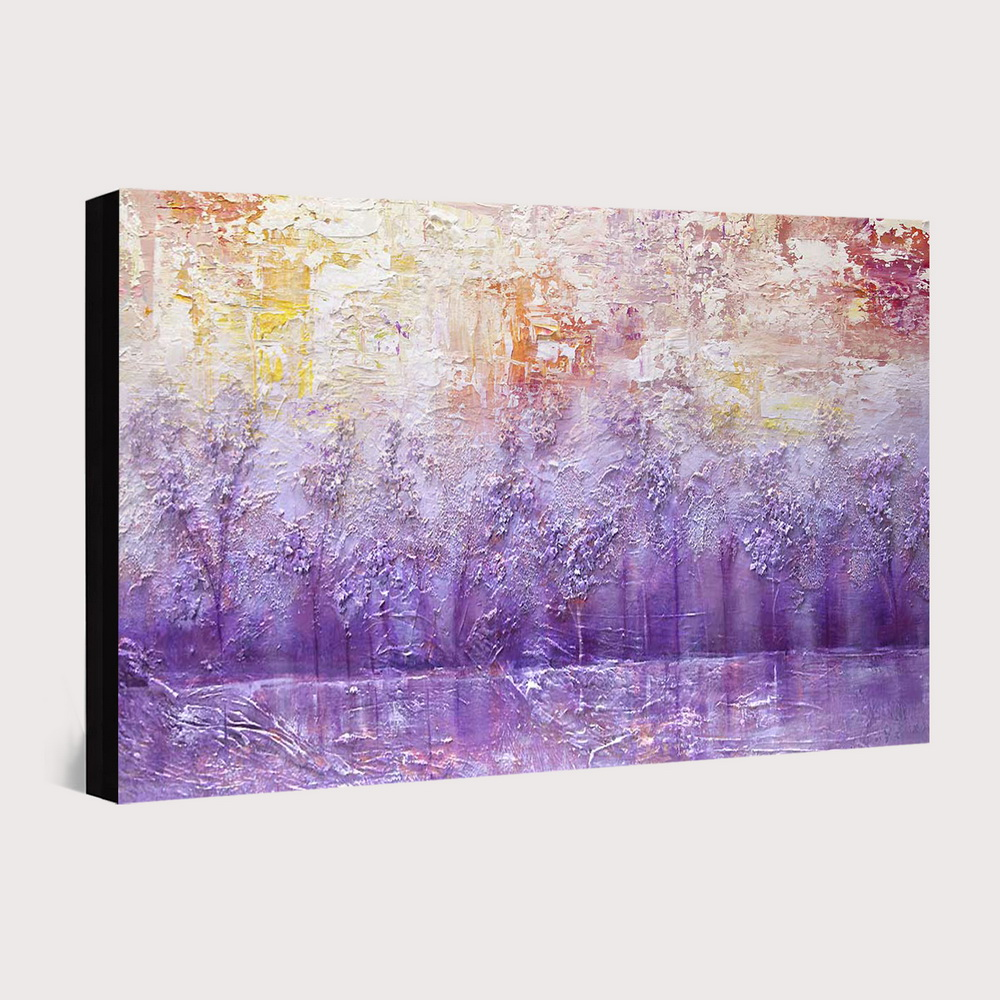 QINGYAZI HQ018 Hand-Painted Abstract Oil Painting Home Wall Art Painting- Violet 24 x 36 inch (60cm x 90cm)