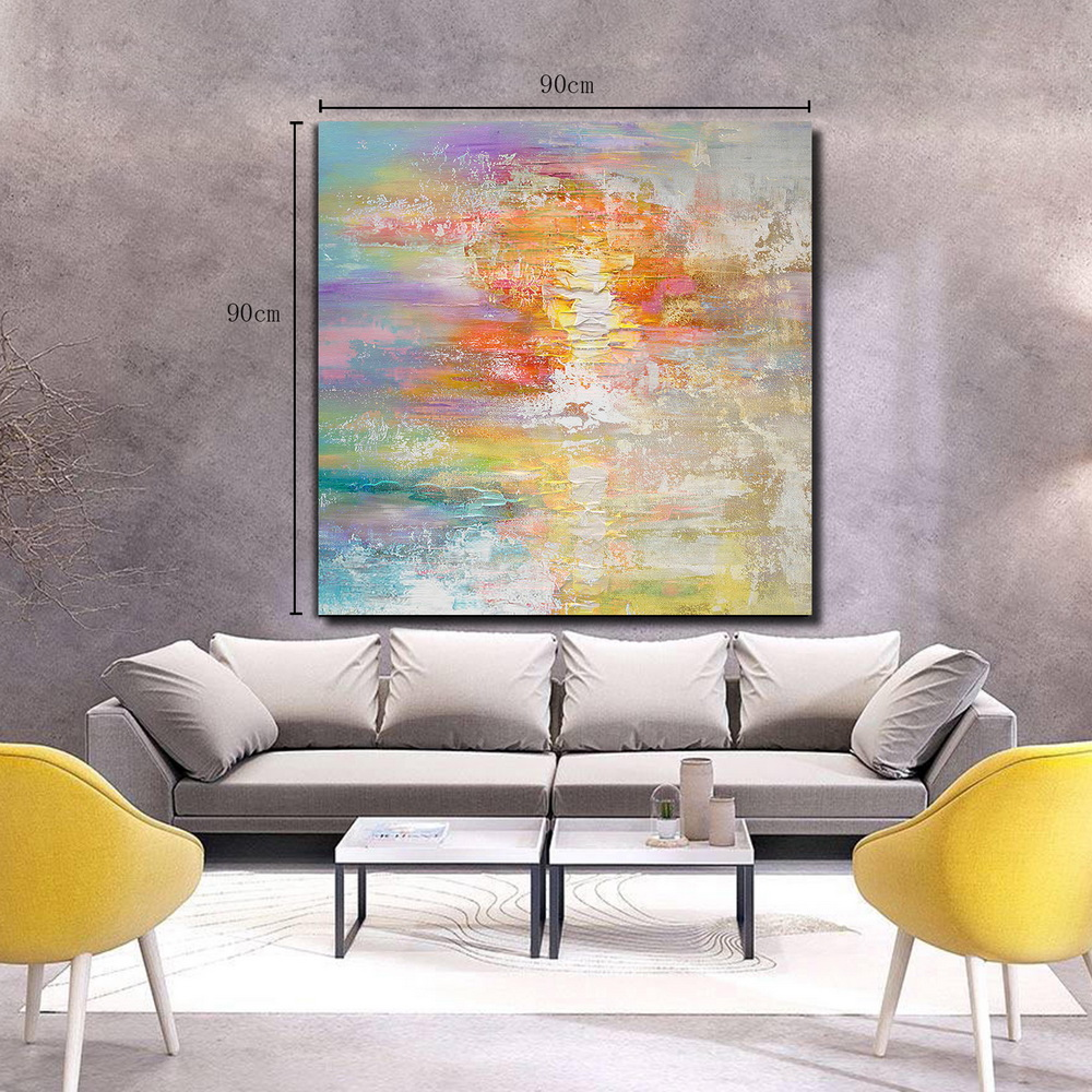 Qingyazi Hq036 Hand Painted Abstract Oil Painting Home Wall Art Painting