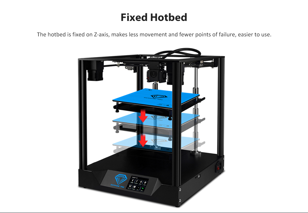 TWO Trees Sapphire - Pro Modular Quick Installation MKS Open Source 3D Printer Robin NANO Motherboard 3.5 inch Touch Screen with BMG Two-wheel Extruder Support Multi-language 235 x 235 x 235MM Print Area- Black US Plug (2-pin)