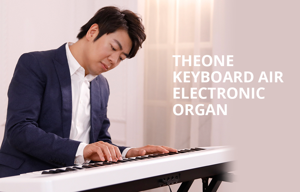 TheONE Keyboard Air 61 Key Ultra-thin and Portable Electronic Organ Bluetooth Connection - White