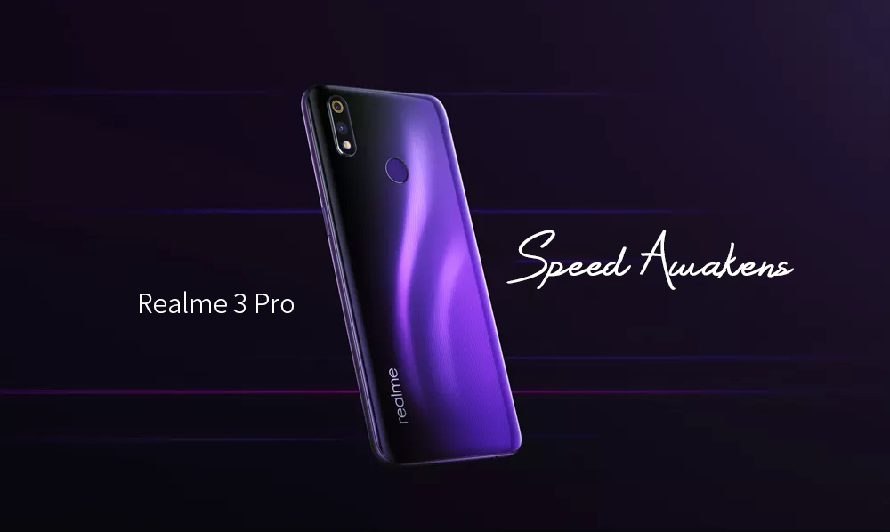 OPPO Realme 3 Pro 4G Phablet 6.3 inch Android 9.0 Snapdragon 710 Octa Core 4GB RAM 64GB ROM 16.0MP + 5.0MP Rear Camera 4045mAh Battery- Violet