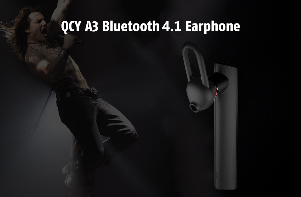 QCY A3 Noise Cancelling / Comfortable Wearing Earphone- Black