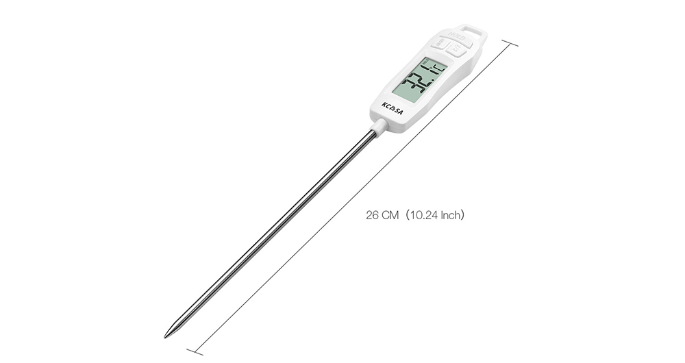 Kitchen Electronic Food Thermometer Water Temperature Meter- Milk White