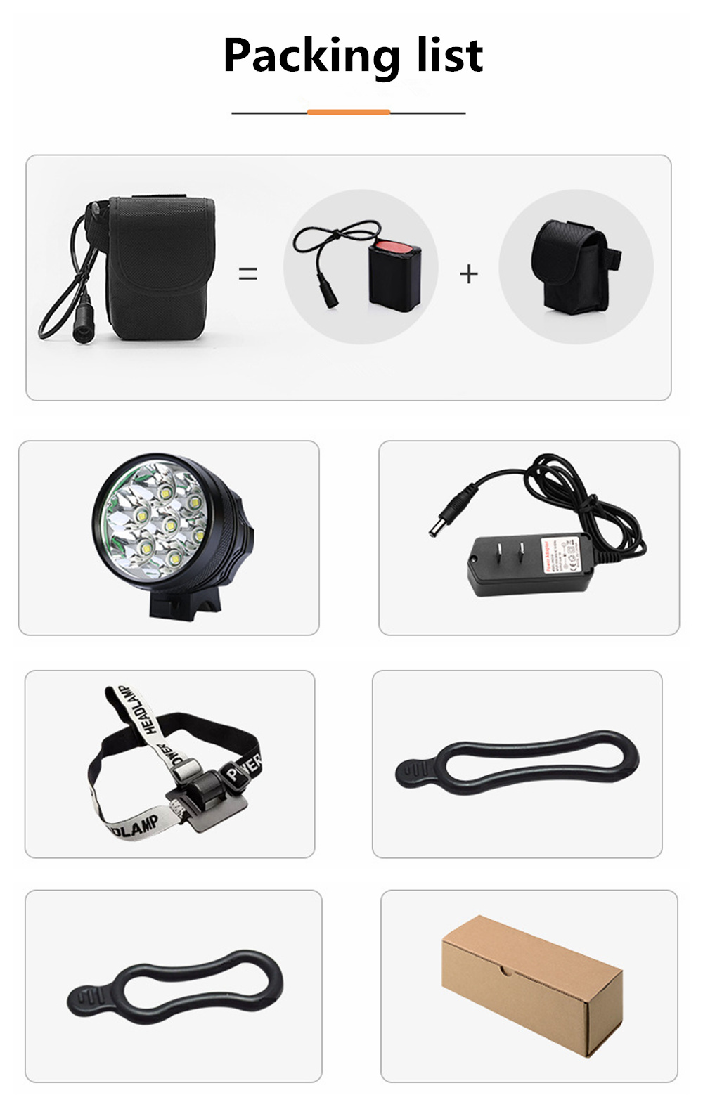 ZHISHUNJIA ZSJ-007 High-brightness 7LED Bicycle Lamp Waterproof Car Lamp- Red