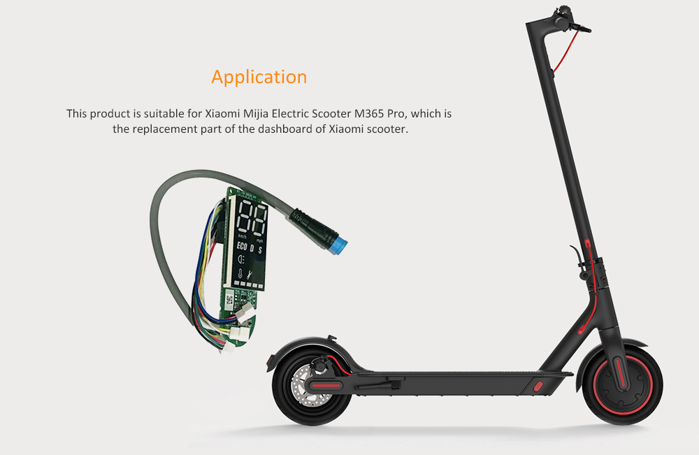 Mijia Electric Scooter M365 Pro Bluetooth Switch Panel Circuit Board - Black