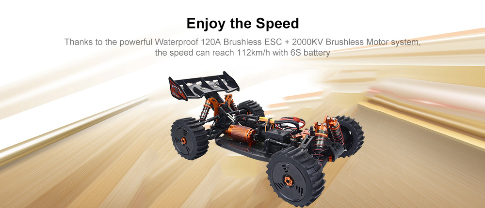 ZD Racing 9020 - V3 1:8 4WD 2.4G Buggy 120A ESC 4268 Brushless Motor RC Car - Multi-A Single battery US Plug