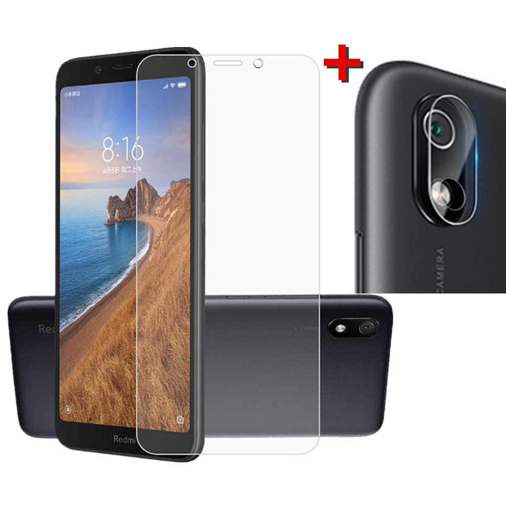 2 in 1 Protective Lens Camera Screen Protector for Xiaomi Redmi 7A- Transparent