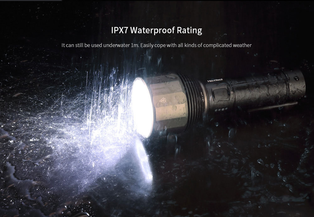 NEXTOOL LED Outdoor Powerful Light Flashlight Long Battery Life IPX7 Waterproof from Xiaomi youpin- Black