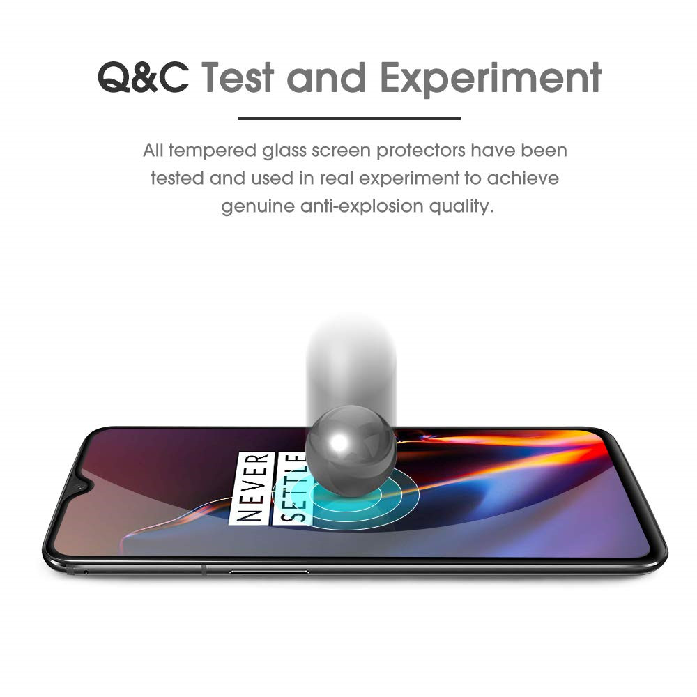 Tempered Glass Film for OnePlus 7 / OnePlus 6T 2pcs- Black OnePlus 7