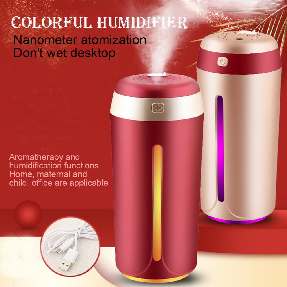 Car Humidifier Desktop Humidifier Air Purifier Atomizer- Cherry Red 1pc
