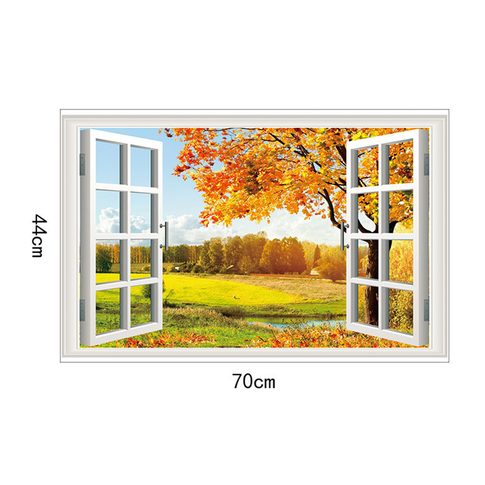 Golden Maple Movable PVC Window Film Wall Sticker- Multi 70x44cm
