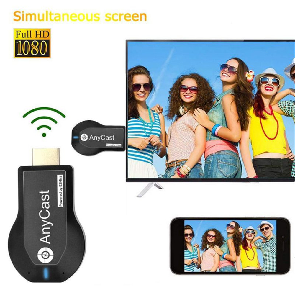 Anycast M2 Plus WiFi Display Dongle 1080P HDMI TV DLNA Airplay Miracast Receiver- Black