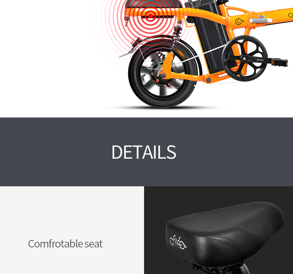 FIIDO L2 14 inch Aluminum Alloy Electric Bicycle Smart 20Ah Folding Moped E-bike- Dark Gray