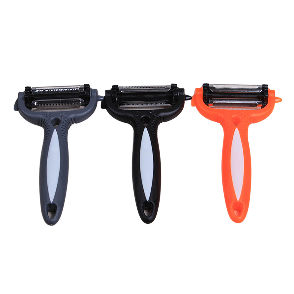 Multi-Function Creative Kitchen Rotate 360 Degrees Out Skin Cutter Tool- Black