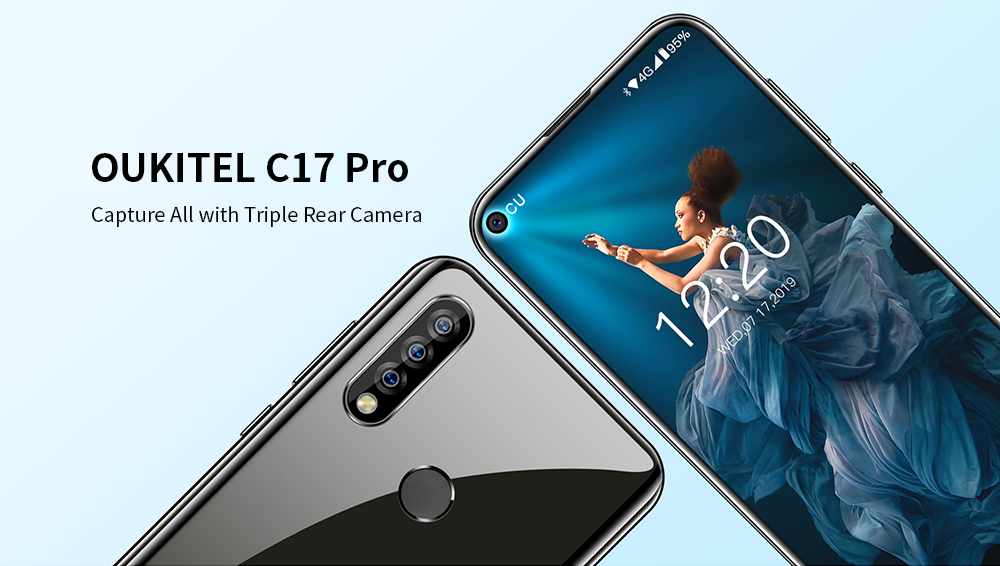 OUKITEL C17 Pro 4G Phablet 6.35 inch Android 9.0 MT6763 Octa Core 4GB RAM 64GB ROM 13.0MP + 5.0MP + 2.0MP Rear Camera 3900mAh Battery- Multi-A